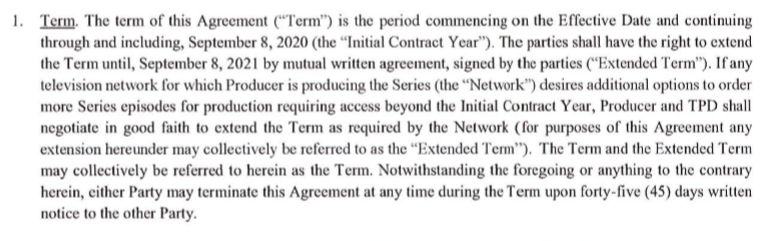 Live PD Contract